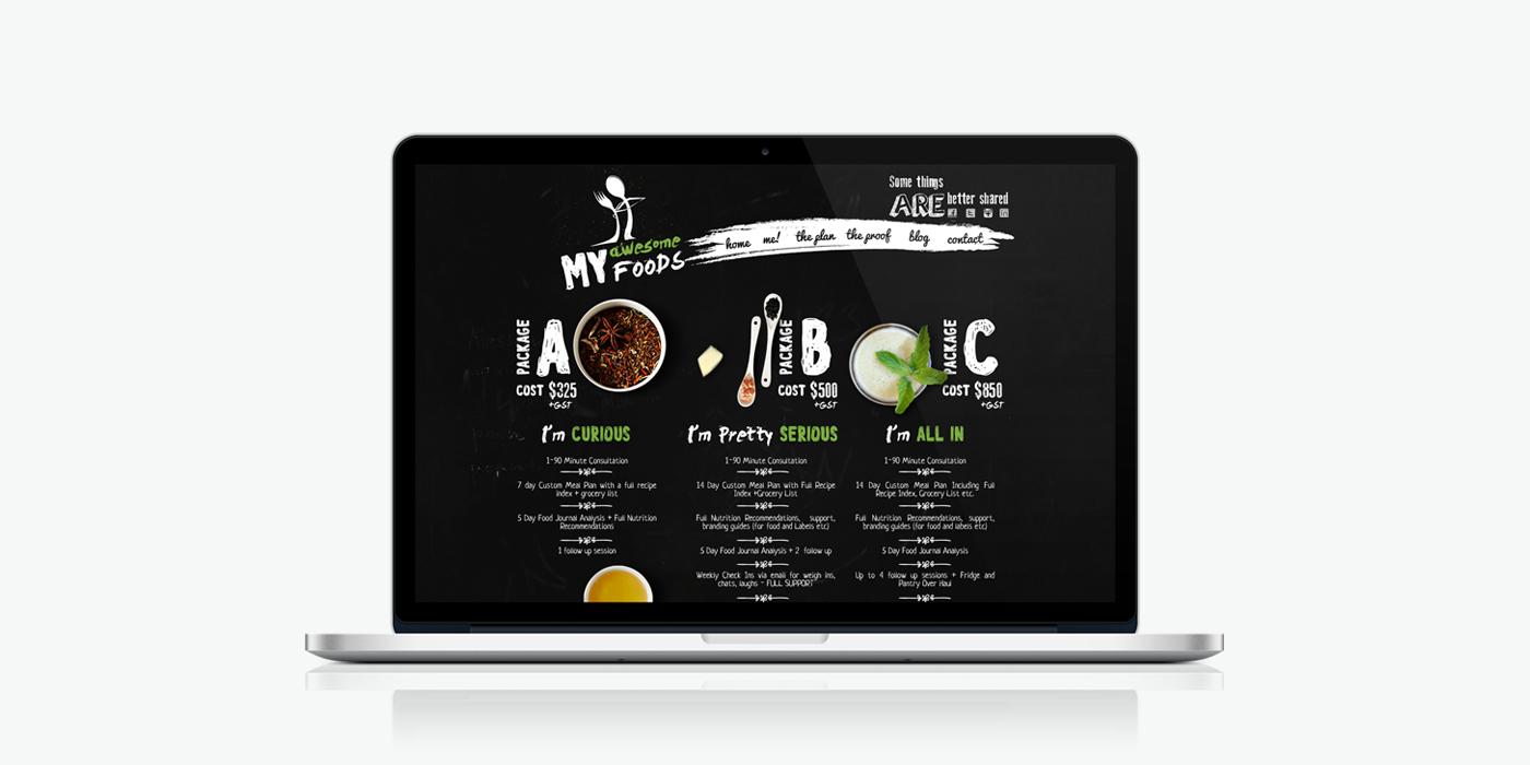 Десктоп версия на уеб сайт дизайн за гурме храна