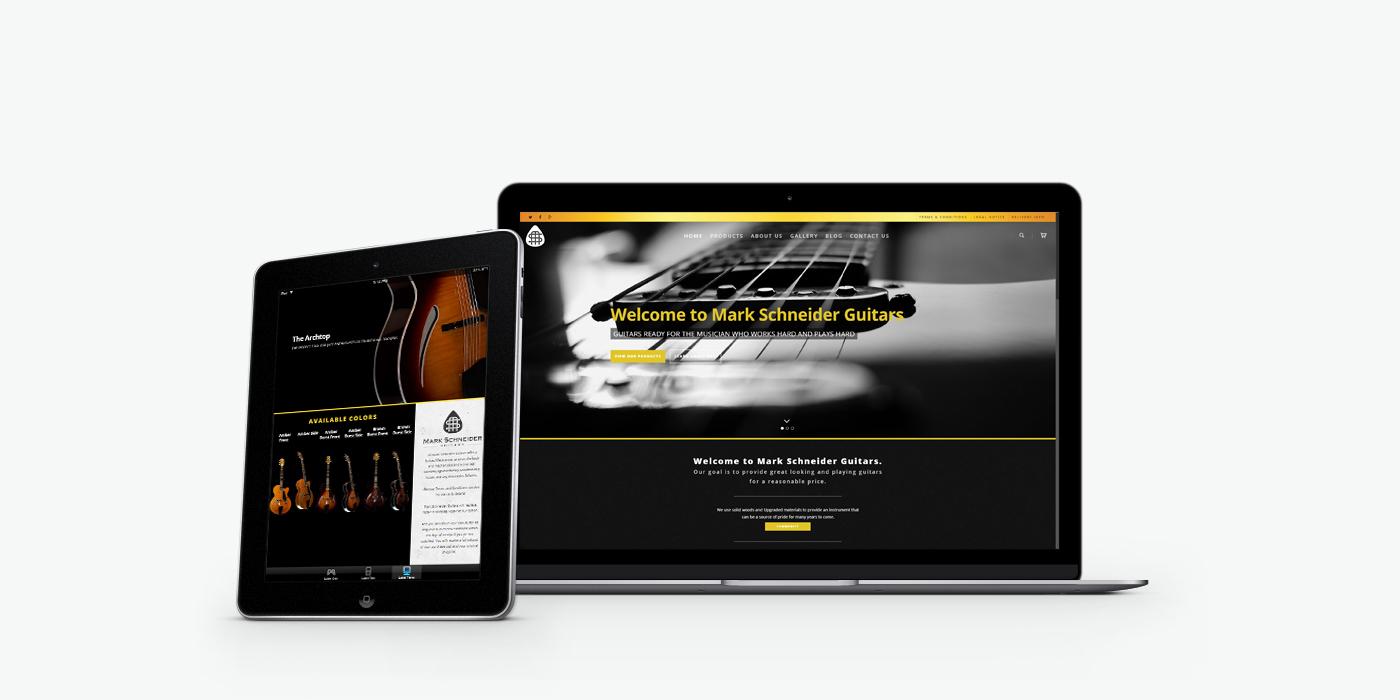 Уеб сайт дизайн за китари