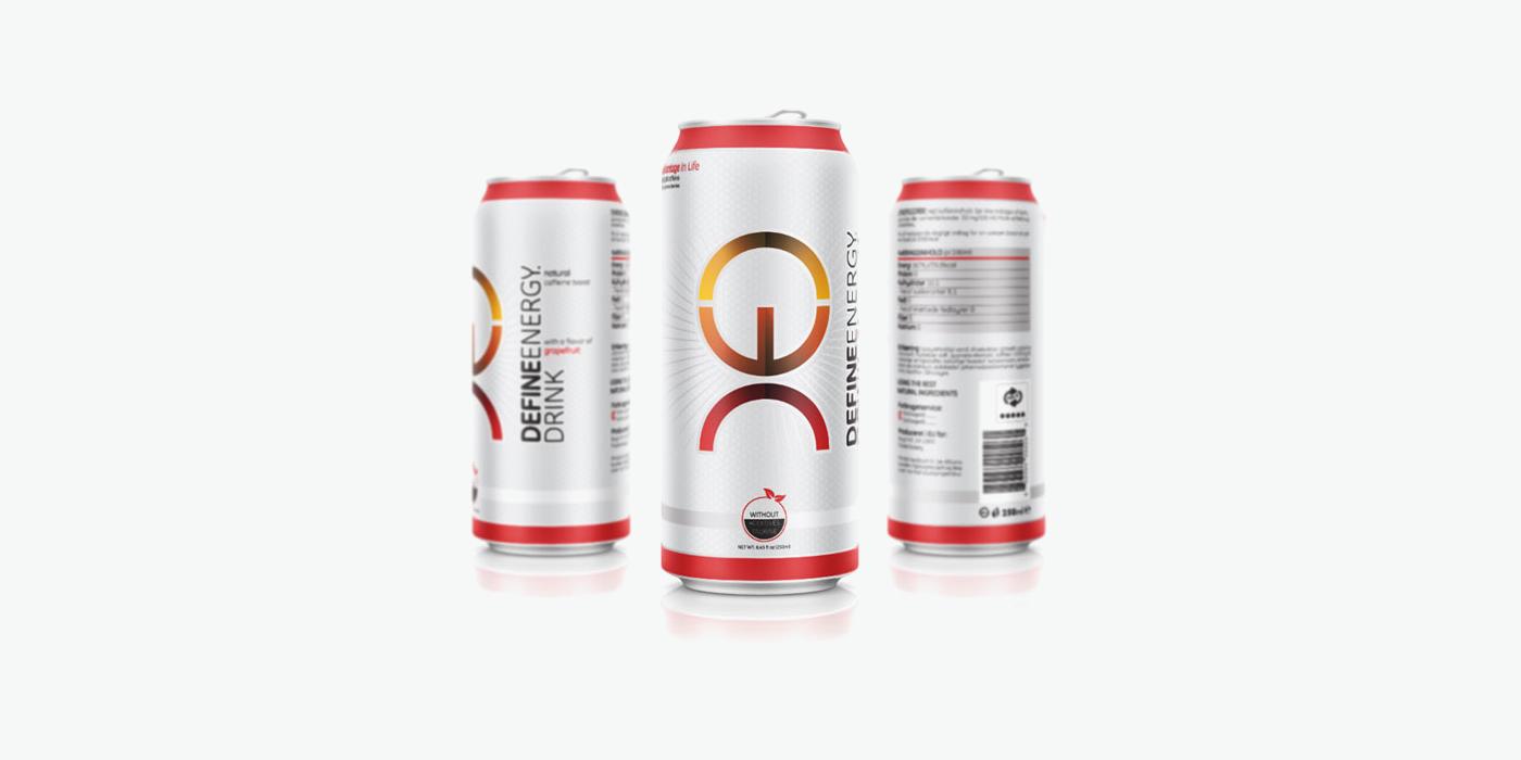 Етикет дизайн за Уеб сайт дизайн за енергийна напитка Define Energy Drink-изглед 2
