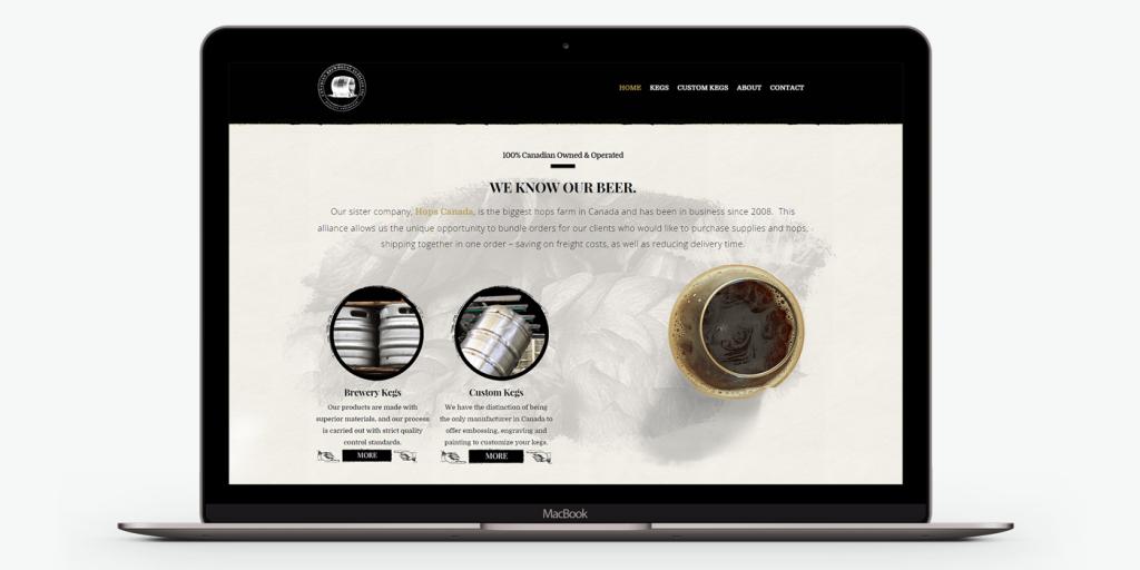 Десктоп версия на Уеб сайт дизайн за снабдяване