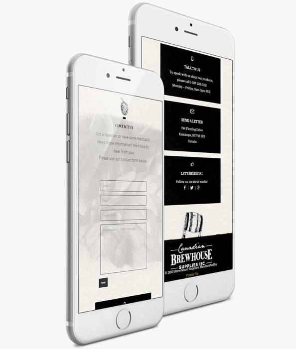 Мобилна версия на Уеб сайт дизайн за снабдяване