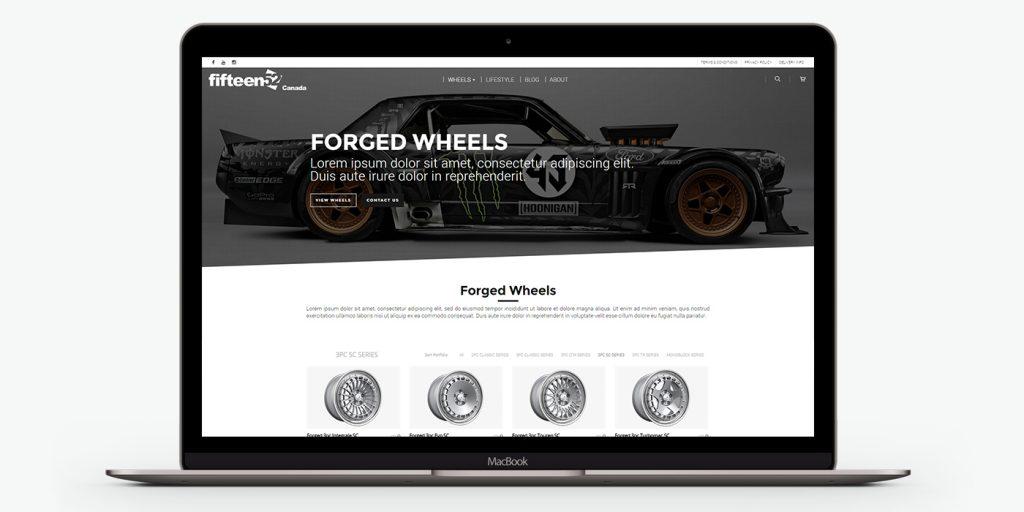 Изглед на уеб сайт дизайн за джанти