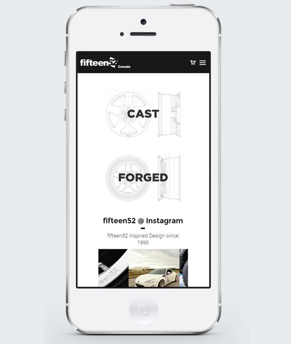 Мобилна версия на уеб сайт дизайн за джанти