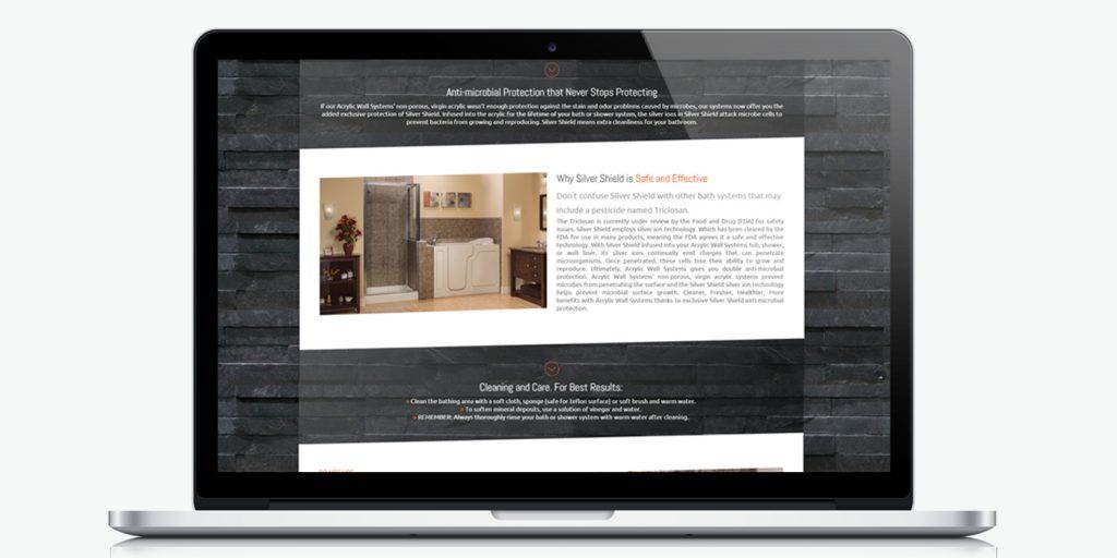 Десктоп версия на Уеб сайт дизайн за ремонт на баня