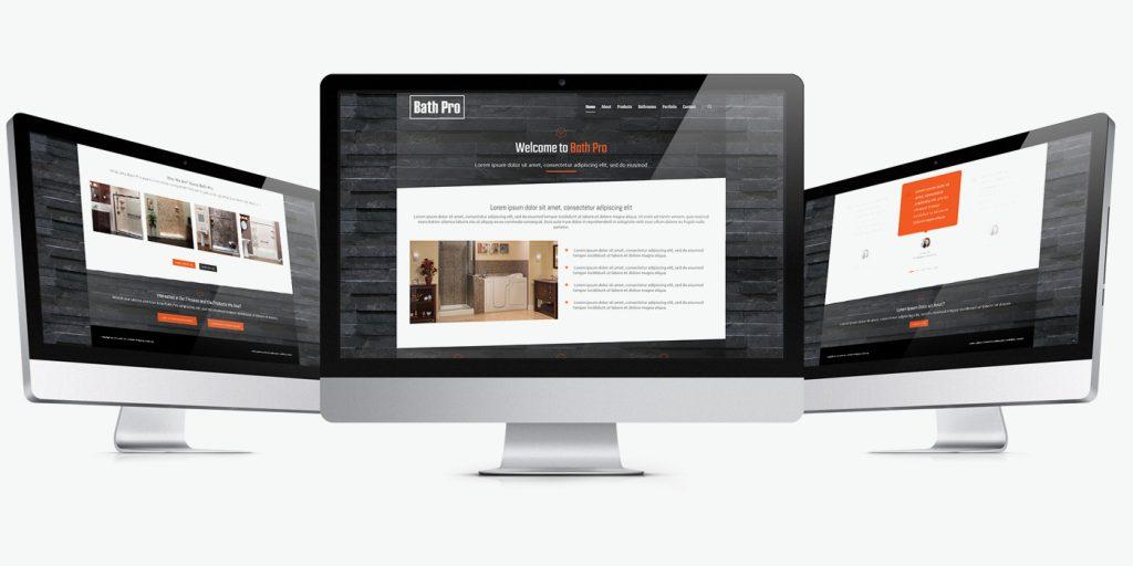 Уеб сайт дизайн за ремонт на баня Bath Pro
