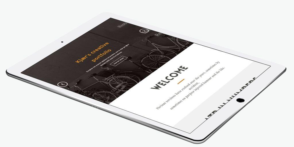 Таблет версия на уеб сайт дизайн за фотография