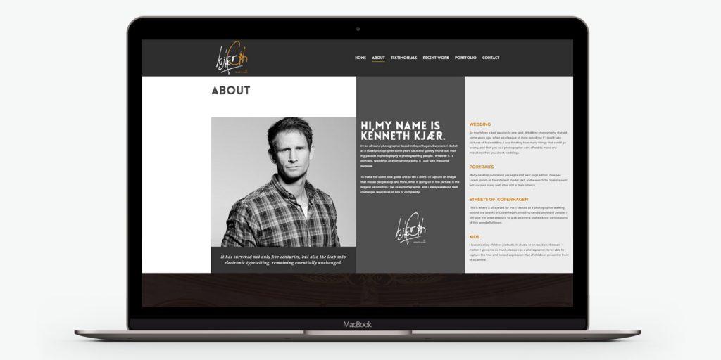 уеб сайт дизайн за фотография