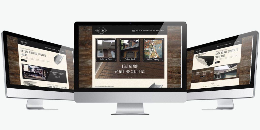Десктоп версия уеб сайт дизайн за улуци First Choice