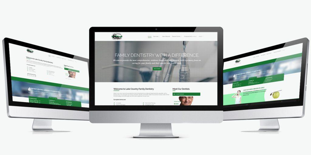 Уеб сайт дизайн за зъболекари Lake Country Dentistry