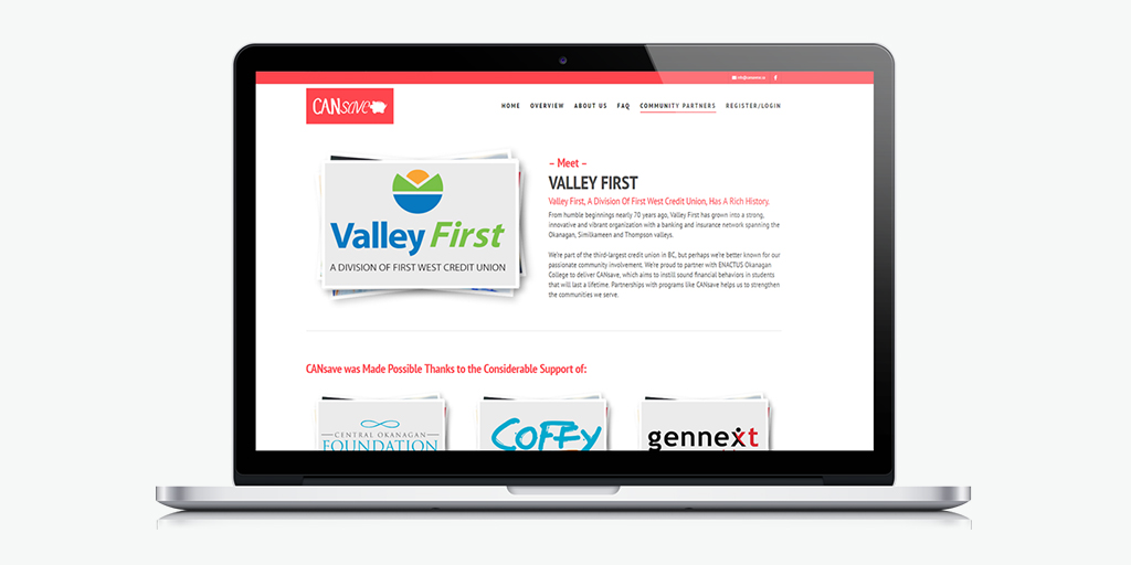 Уеб сайт дизайн за училище CanSave