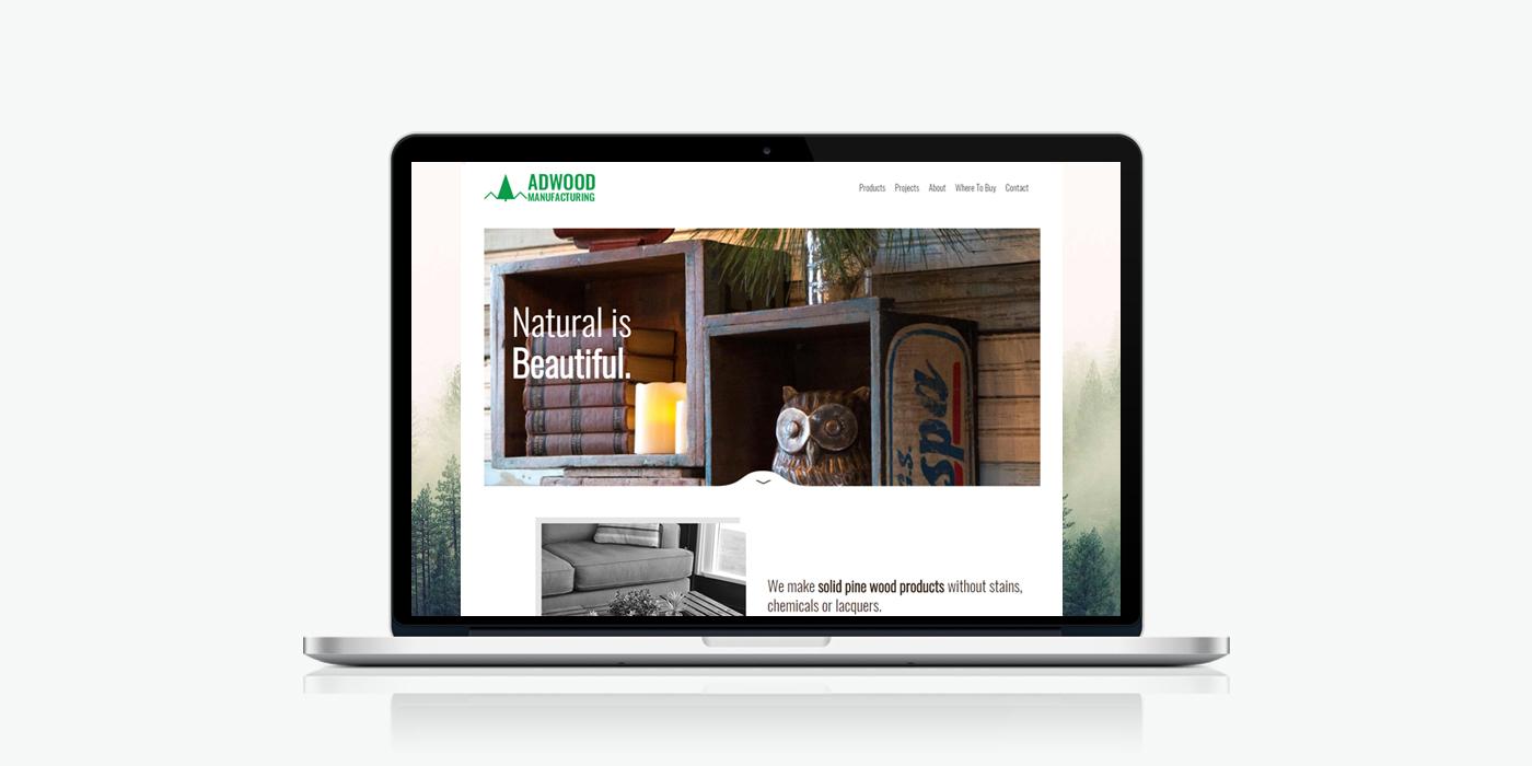 Десктоп версия на уебсайт дизайн за мебели