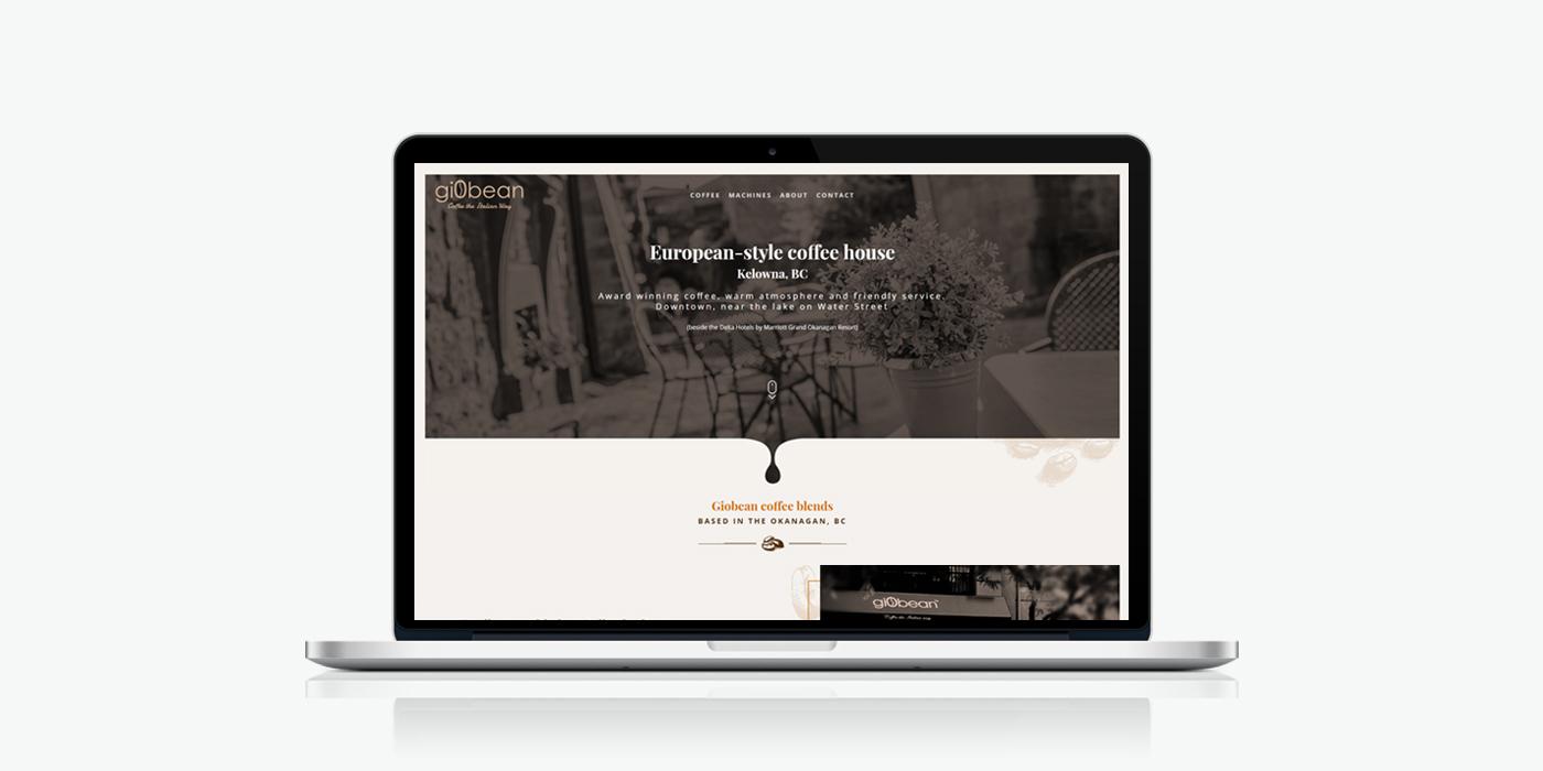 Десктоп версия на уеб сайт дизайн за кафе